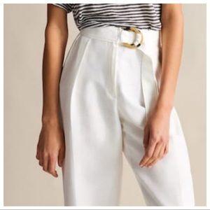 NWT. Massimo Dutti Linen Trousers. Size 4, 6, 10.